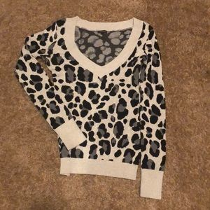 Express Leopard Pullover Sweater
